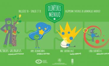Spalis - Olimpinis mėnuo!